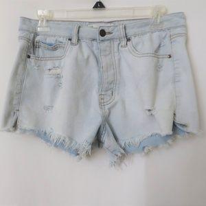 Tilly's RSQ Vintage High Rise Denim Shorts Lt Wash
